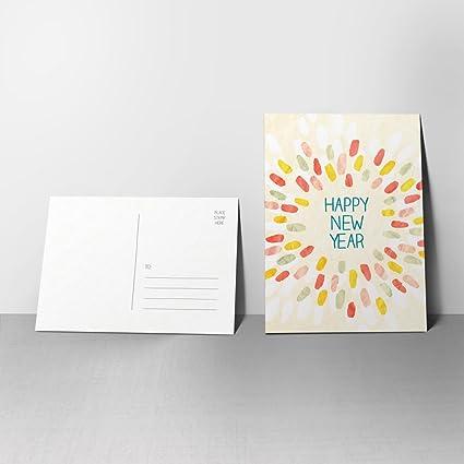 Amazon.com : 5 Posh Swash New Year Postcards - Happy New Year ...