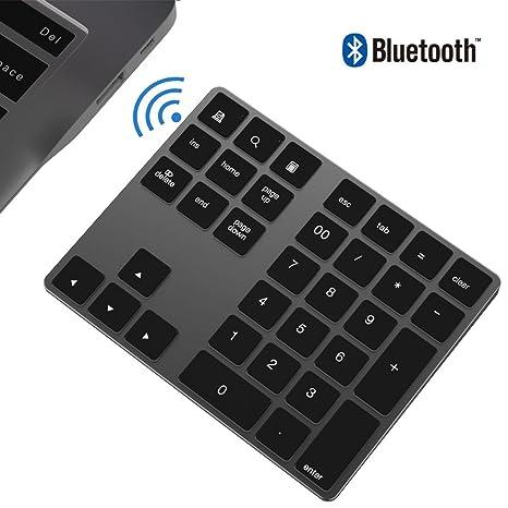 Teclado numérico Bluetooth, IKOS Teclado numérico externo Bluetooth de 34 teclas con múltiples accesos directos