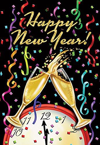 (Briarwood Lane Happy New Year Garden Flag Champagne Confetti 12.5