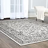 """home depot rugs Clearance Home Dynamix Nicole Miller Patio Country Camellia Indoor/Outdoor Area Rug, Traditional Ikat Blue/Gray 5'2""""x7'2"""""""
