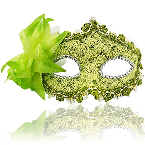 Masquerade Mask for Women Venetian Masks Christmas Women Flower Half-face Masks Eye mask Cosplay Lace mask -