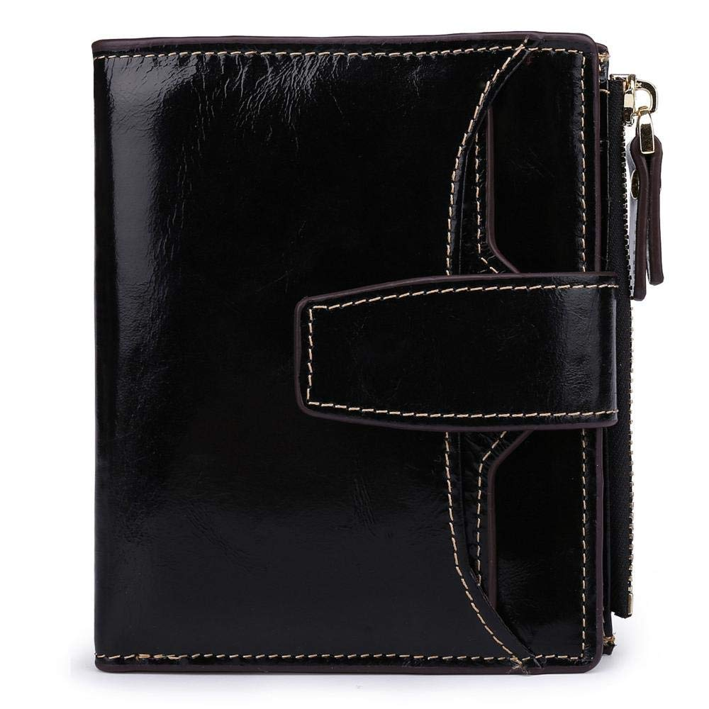 I ZhiGe Women's Wallet,Leather Lady Wallet Short biSection greenical 20 Percent Wallet 12  1.5  10cm
