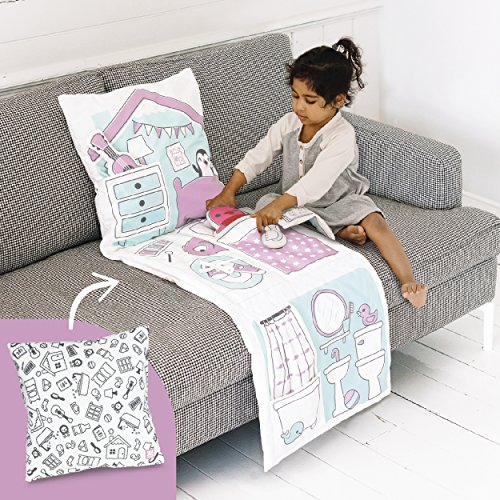 (Sago Mini 2-in-1 Fold Up Pillow Playset, Robin's Doll House with Plush Accessories for Toddlers)