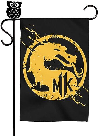 Amazon Com Slimerland Mortal Kombat Logo Mk Garden Flag Yard