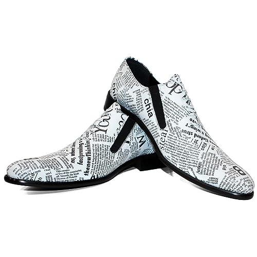 Modello Recyclo - Cuero Italiano Hecho A Mano Hombre Piel Blanco Mocasines y Slip-Ons Loafers - Cuero Cuero Suave - Ponerse: Amazon.es: Zapatos y ...