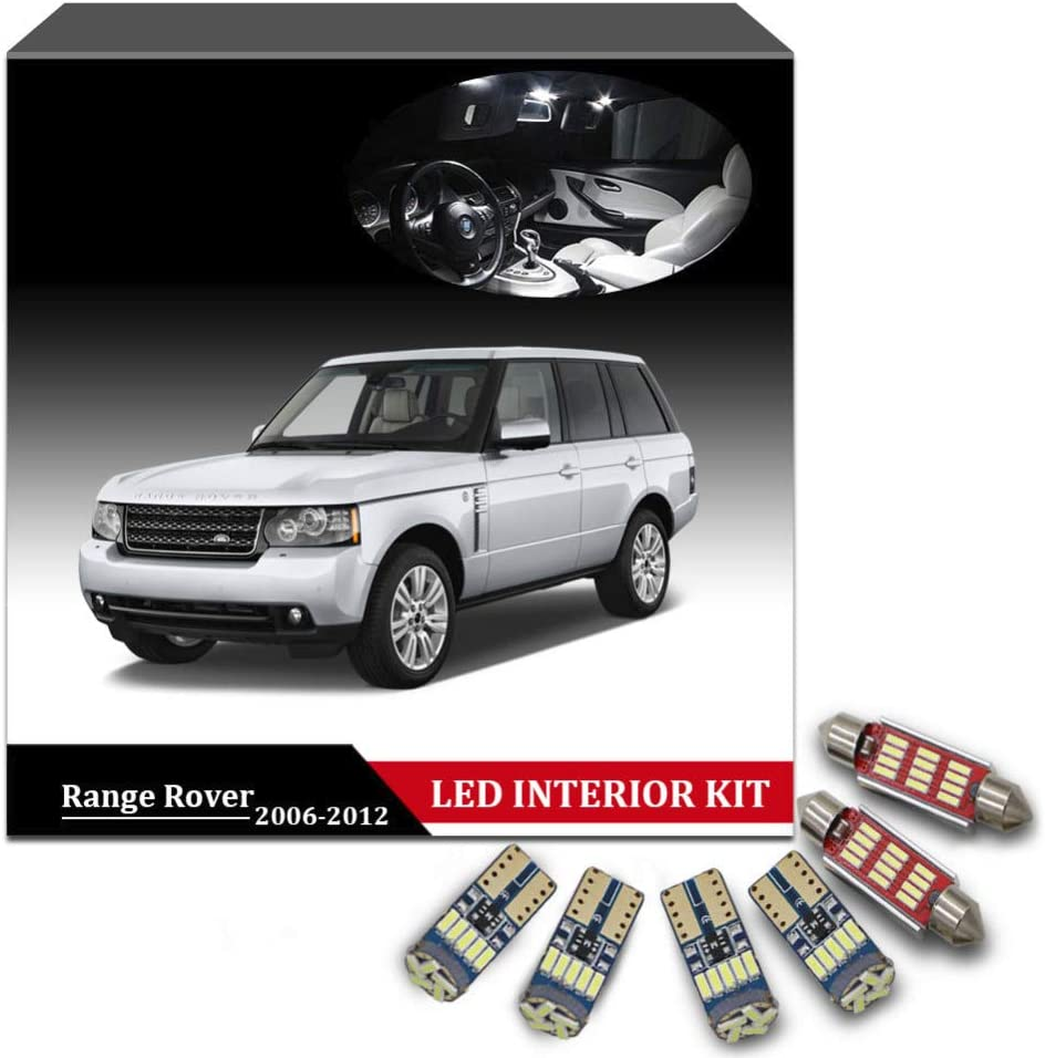 RANGE ROVER SPORT XENON WHITE INTERIOR CAR LED LIGHT BULBS KIT