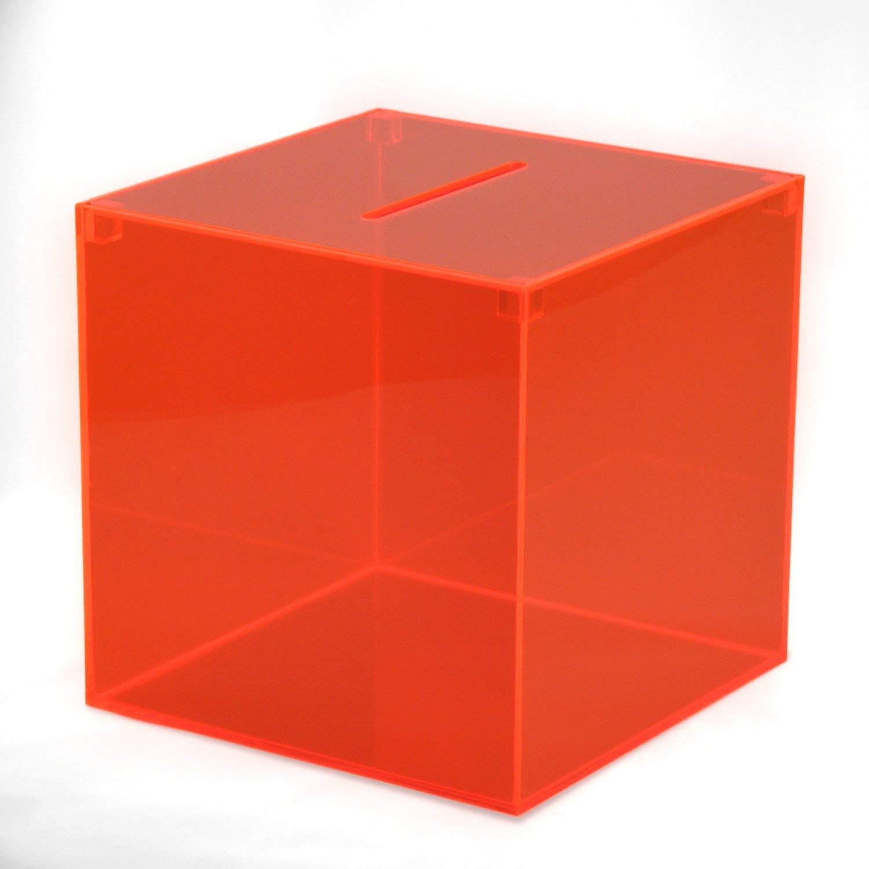 Sammelbox Aktionsbox Aus Acryldeep Red 300x300x300 Mm Hansen