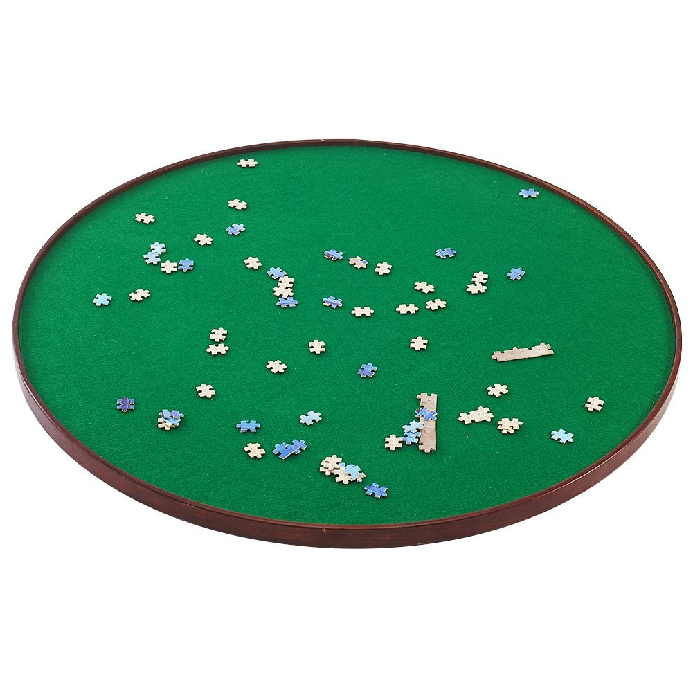 ATDAWN Puzzle Table, Round Table, Wooden Jigsaw Puzzle Spinner, Spin Puzzle Table, Puzzle Accessories for 1000 Pieces