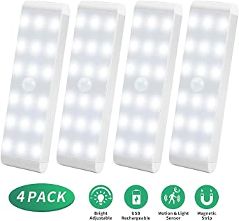 Luces de Noche LED, Acokki Pack de 4 Luces 18 LEDs con Sensor de ...