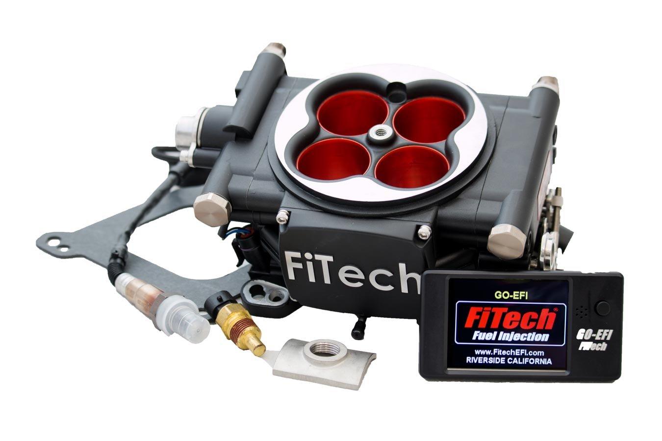 Matte Black FiTech Fuel Injection Go EFI 4-600 HP System Power Adder 30004