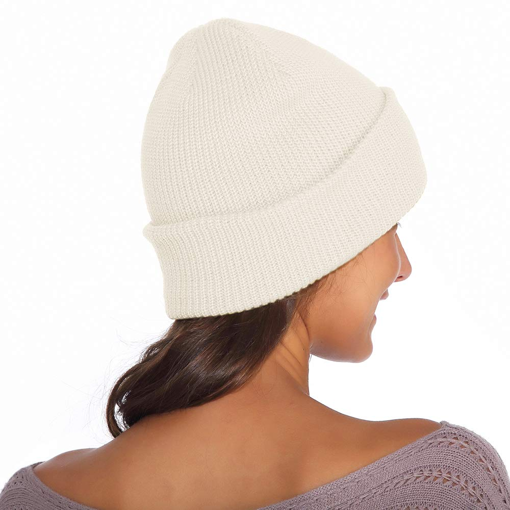 Beanie for Women and Men Unisex Warm Winter Hats Acrylic Knit Cuff Skull Cap Daily Beanie Hat