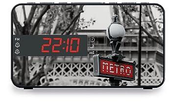 BigBen RR15METRO - Radio despertador (pantalla LED de 2