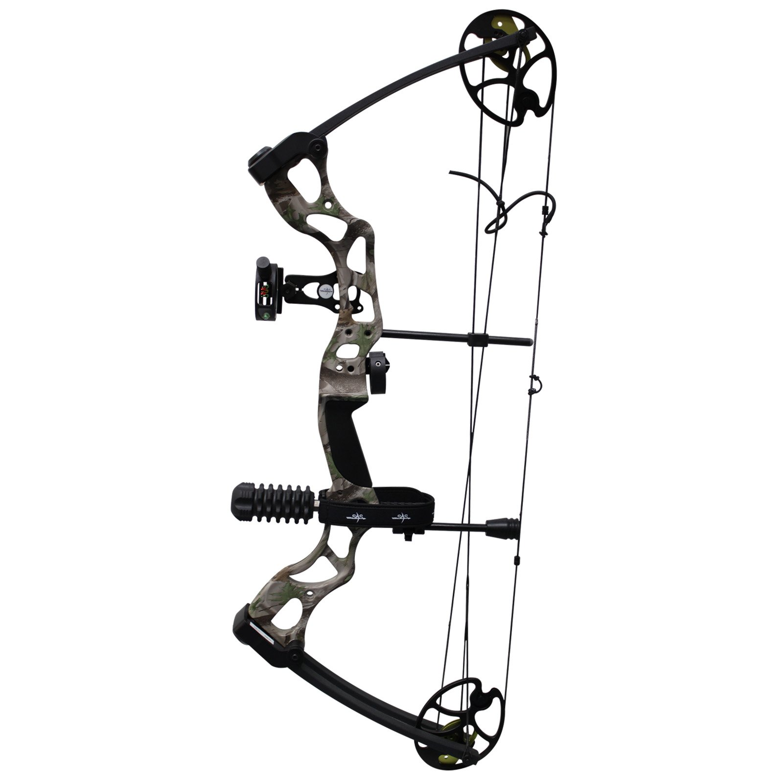 Southland Archery Supply SAS Rage 70 Lbs 30'' Compound Bow (Camo with Full Accessories in Black)