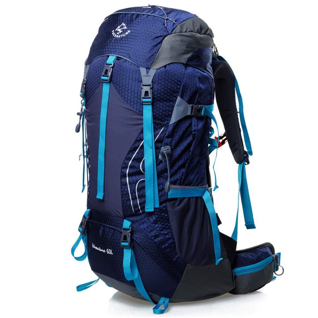 バックパック大容量ハイキングバッグ男性と女性登山バッグ60リットル屋外防水通気性キャンプ乗馬多機能バックパック B07T6YW9RC royal blue 60L