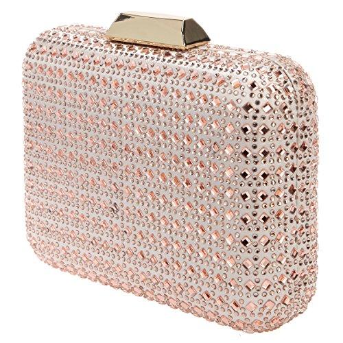 Rose Clutch Clutches Bonjanvye Rhinestone Gold Party Women Evening Crystal for Bling Wedding Bag qn0wpngP