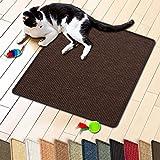 casa pura Sisal Cat & Kitten Scratching Mat, Dark Brown (24' x 32')   Multiple Colors & Sizes Available