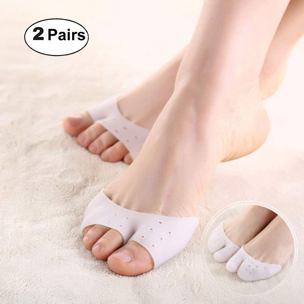 2 Pair Professional Ballet Shoe Pointe Toe Cap Covers Toe Protection High Heels Pointed Toes Pain Protector Silicone Gel Soft Pads Feet Care