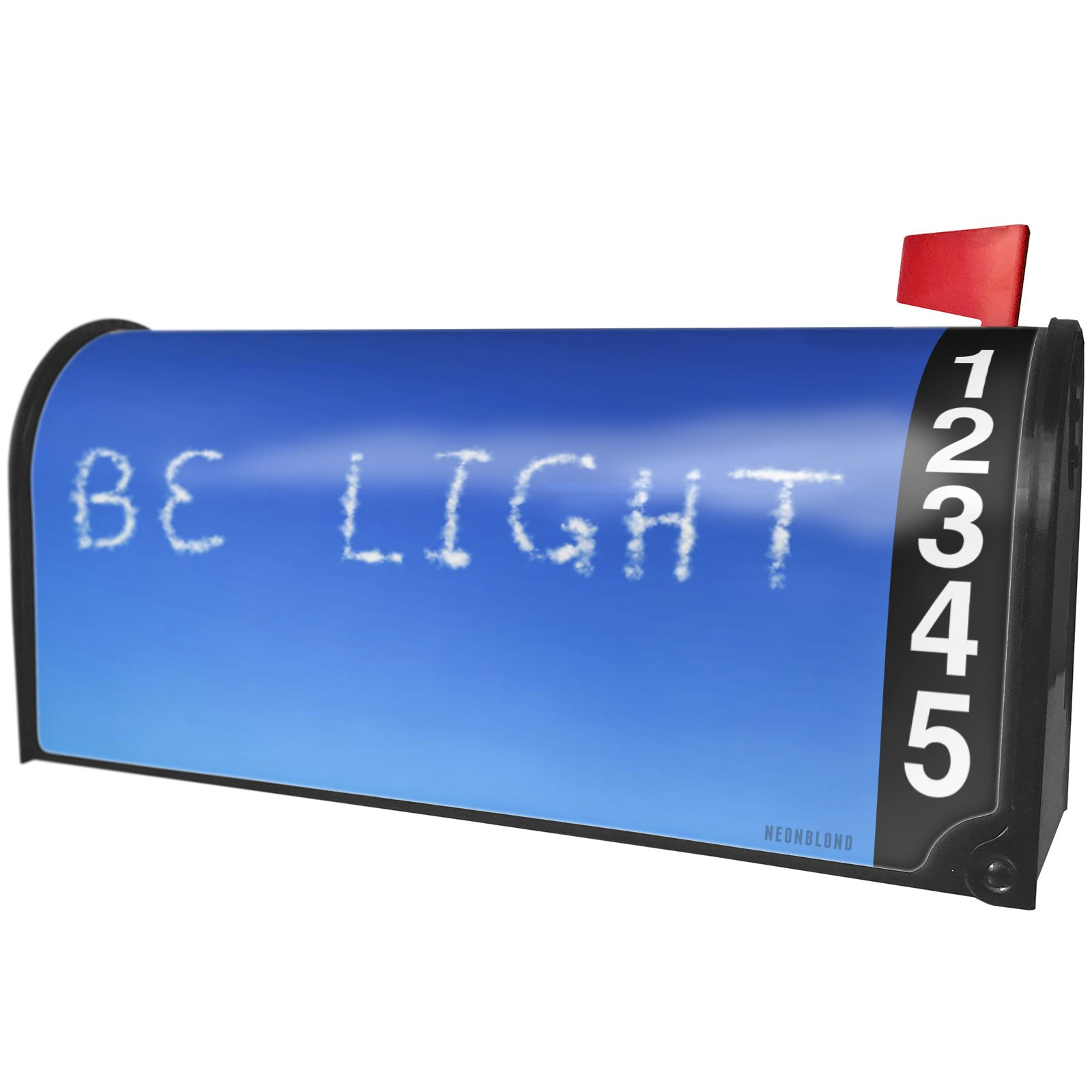 NEONBLOND Be Light Clouds Fresh Air Magnetic Mailbox Cover Custom Numbers