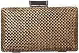 Jessica McClintock Concave Mesh Minaudiere Evening Bag,Antique Gold,One Size, Bags Central
