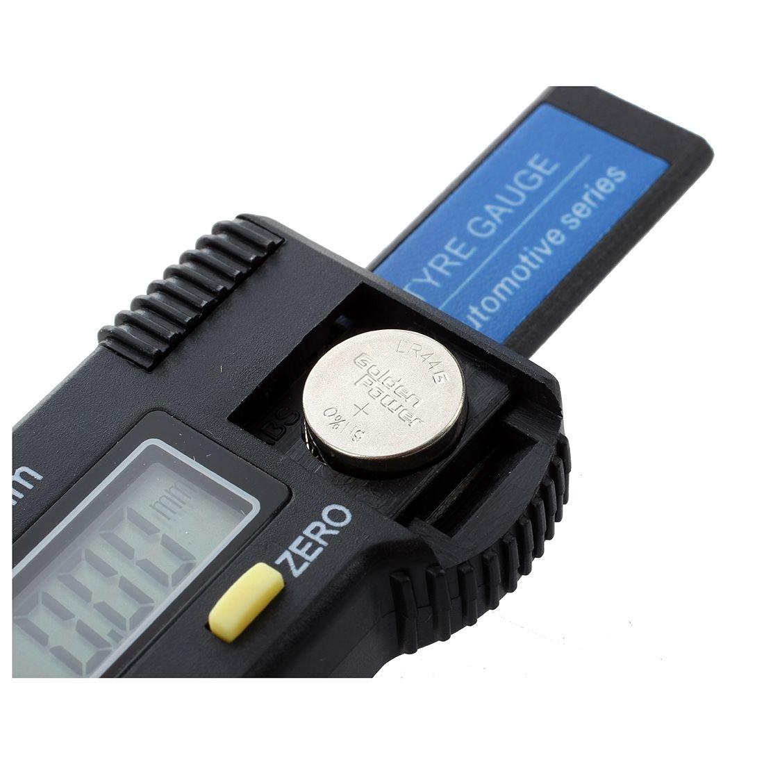 REFURBISHHOUSE Digital Tiefenmesser Messchieber Profiltiefenmesser LCD Reifen Profilmesser
