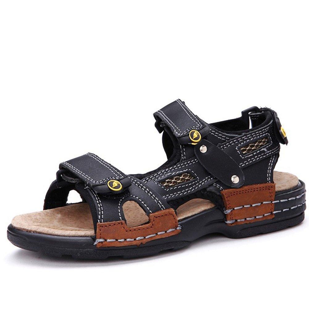 Beude Rubber Sole Summer Anti-skid Kids Sandals for Boys Black 37 5 M US Big Kid