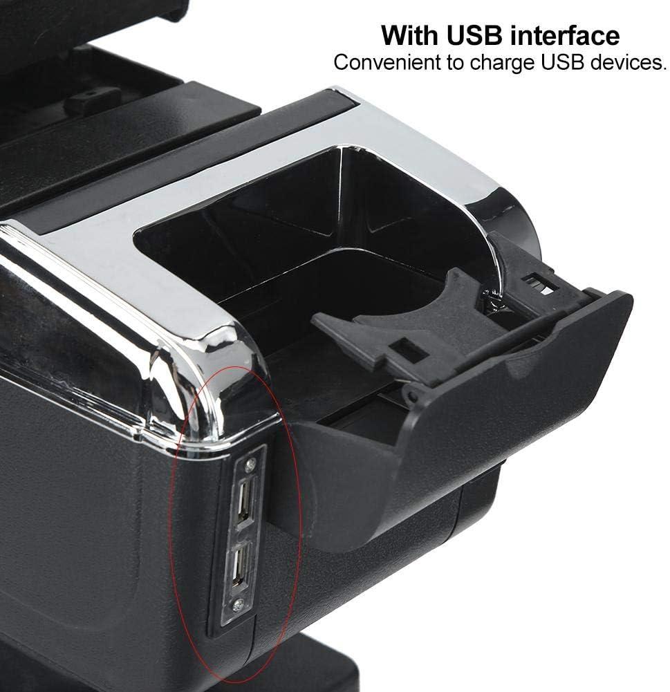 contenedor universal de reposabrazos de consola central de coche ajustable con interfaz USB Organizador interior de coche de reposabrazos central