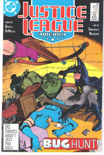 Justice League America, No. 26, May 1989, Slice and Dice (Justice League Dice)