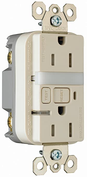 15 amp light almond wall outlet with nightlight electrical outlets 15 amp light almond wall outlet with nightlight electrical outlets amazon aloadofball Choice Image