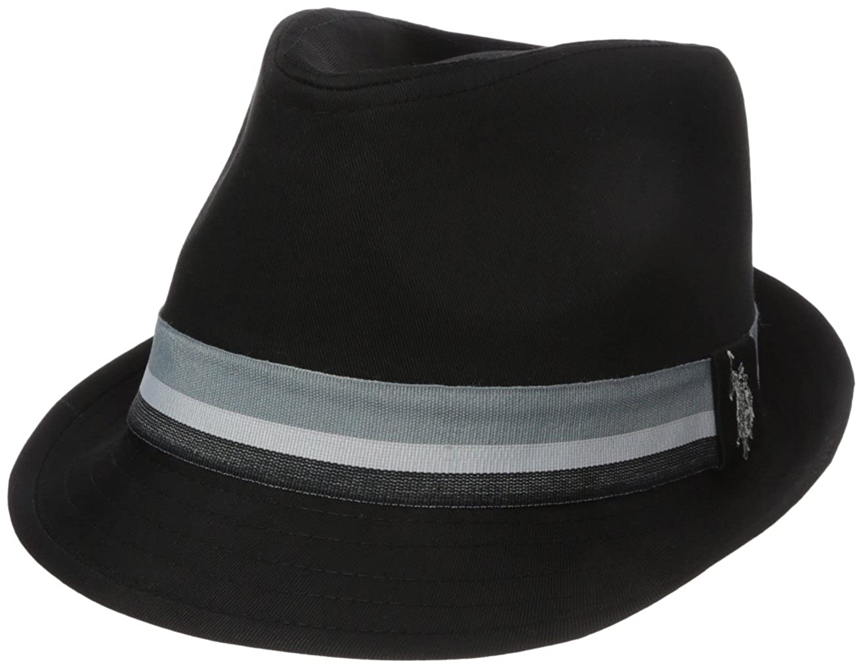 U.S. Polo Assn.... Mens Grosgrain Fedora Hat, Stripe Band ABPE2902AZ-001