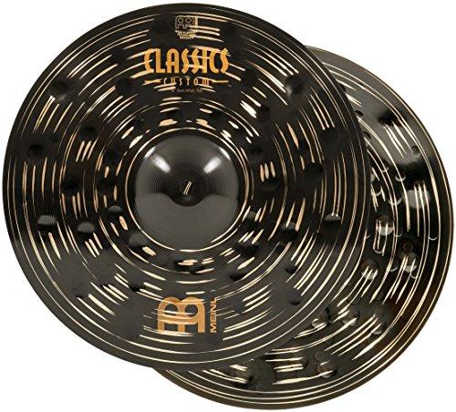 "Meinl 14"" Hihat (Hi Hat) Cymbal Pair - Classics Custom Dark - Made in Germany, 2-YEAR WARRANTY (CC14DAH)"