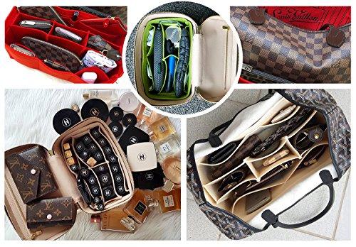 [New Style] Luxury Felt Purse Organizer, Bag Organizer, Handbag Tote Bag Insert Organizer for Speedy Neverfull Longchamp, 3 Sizes by X-GIFT (Image #6)