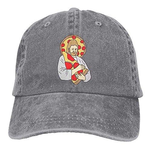 Jeanet Men Street Pizza Gorras Baseball Adjustable Denim Women Hat béisbol Jesus Rapper Hat NDJHEH TSpnq0ww