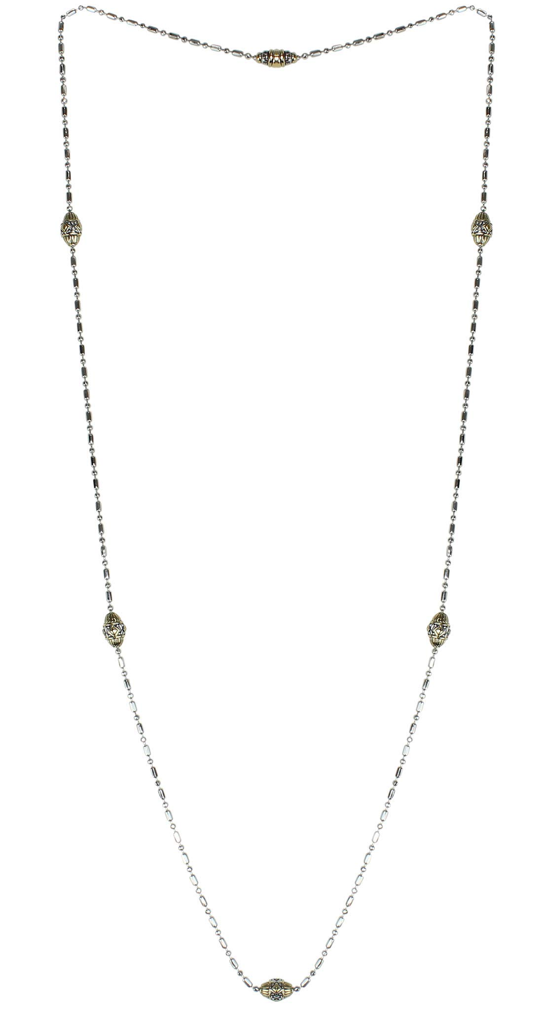 John Medeiros Gold and Silver Tone Long Strand 38'' Necklace with Handcrafted Charms Made in America by John Medeiros (Image #2)