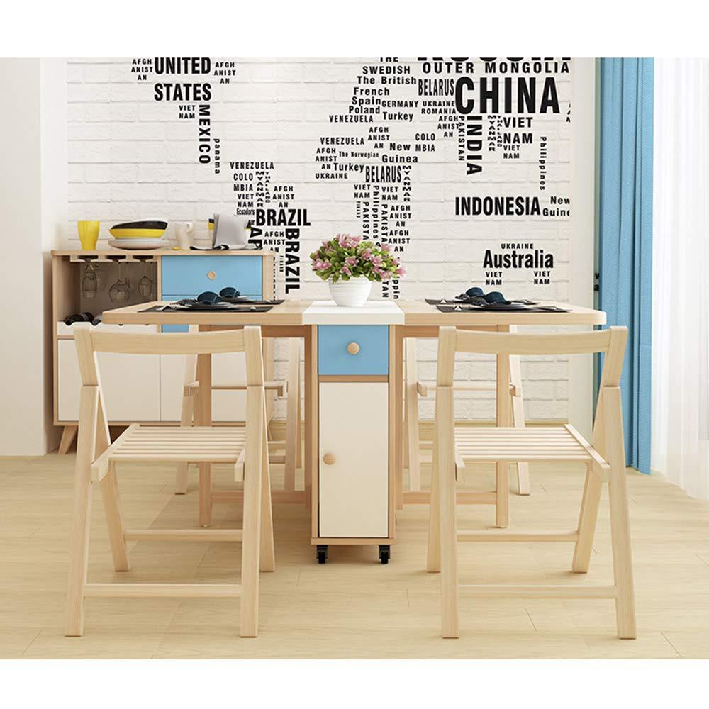 Amazon.com: MIMI KING Folding Table, Household Movable Table ...