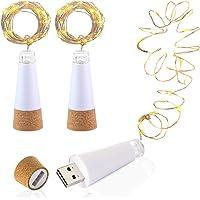 LED Botella corcho Luces, Alimentado por USB Recargable