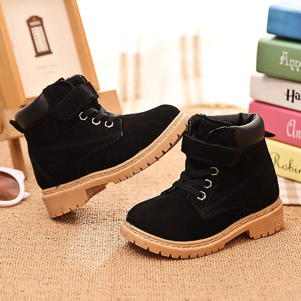 UK Kids Girls Snow Ankle Boots Toddler Winter Warm Flat Zipper Up Shoes Size