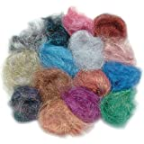 Embellishment Village Angelina Straight Cut Fibers, Jelly Beans, 14-Pack