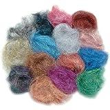 Embellishment Village Angelina Straight Cut Fibers, Jelly Beans, 14-Pack