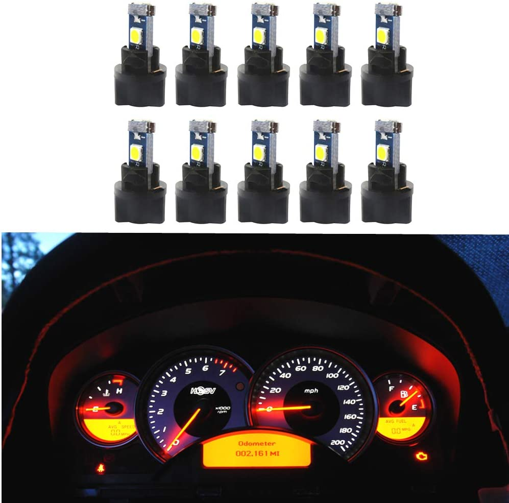 amazon com wljh 10 pack white canbus t5 led bulb 2721 37 74 wedge lamp pc74 twist sockets dash dashboard lights instrument panel cluster leds car replacement automotive wljh 10 pack white canbus t5 led bulb 2721 37 74 wedge lamp pc74 twist sockets dash dashboard lights instrument panel cluster leds car replacement