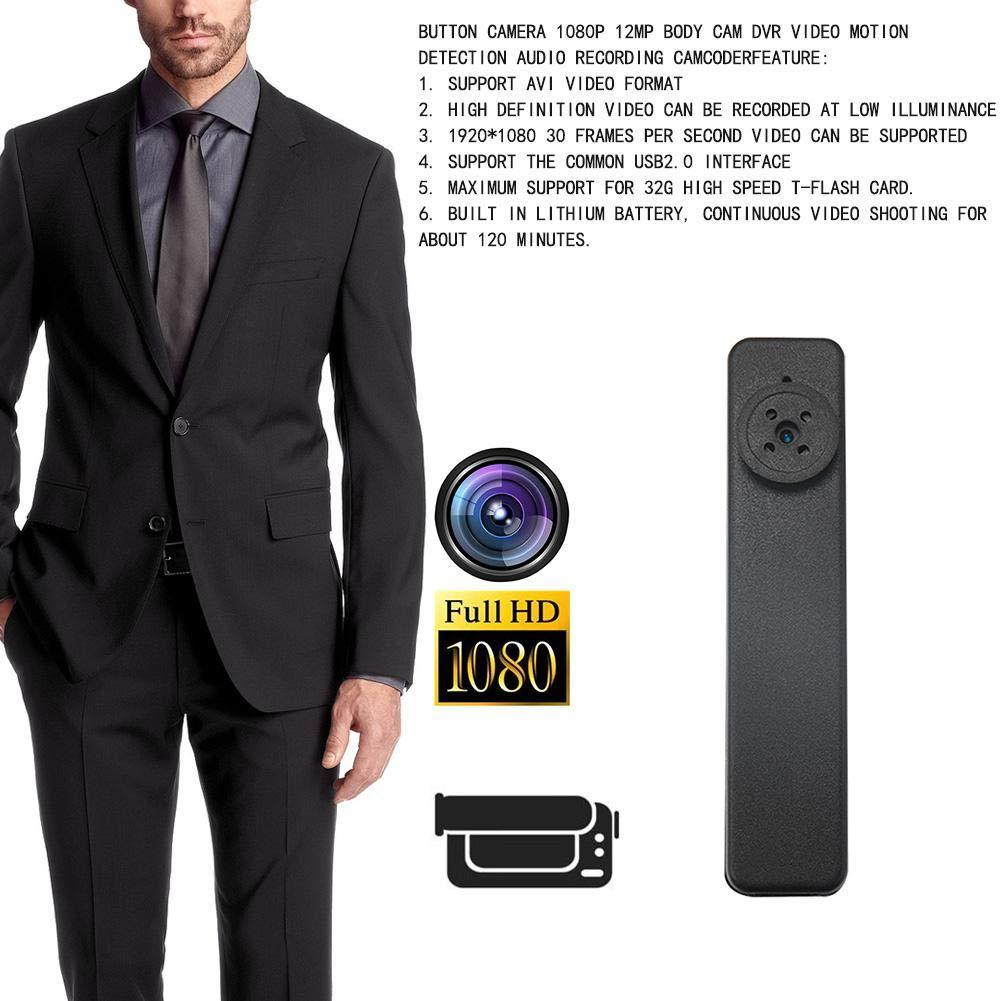 Youtiankai Camera Button Camera 1080P 12MP Body Cam DVR Video Motion Detection Audio Recorder