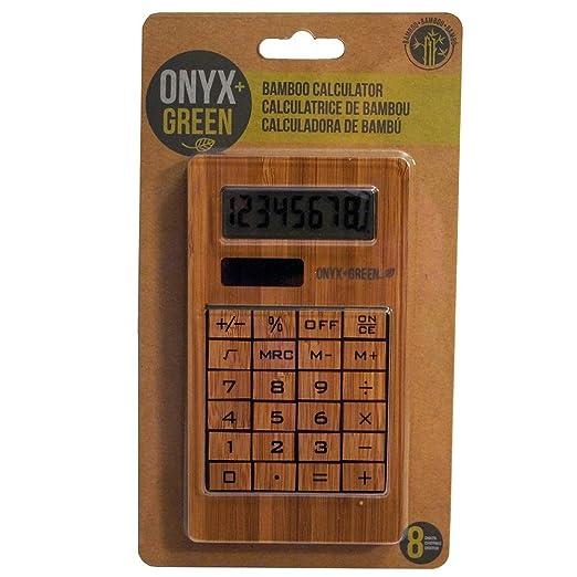 onyx and green bamboo calculator