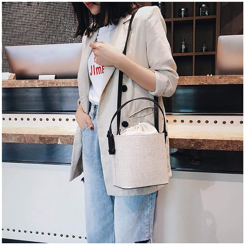 Winter-snow Bucket Bag,Women Drawstring Bucket Bags Handle Handbags Satchel Purse Tote Bag Shoulder Bag