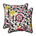 "Pillow Perfect Outdoor/Indoor Menagerie Spectrum Throw Pillow (Set of 2), 18.5"" from Pillow Perfect"