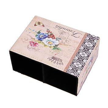 Retro 2 Speicherabteil Stiftek/öcher Stiftbeh/älter Stiftebox handgemachte Leder Schreibtisch Organizer Aufbewahrungsboxen f/ür Schule Zuhause oder B/üro