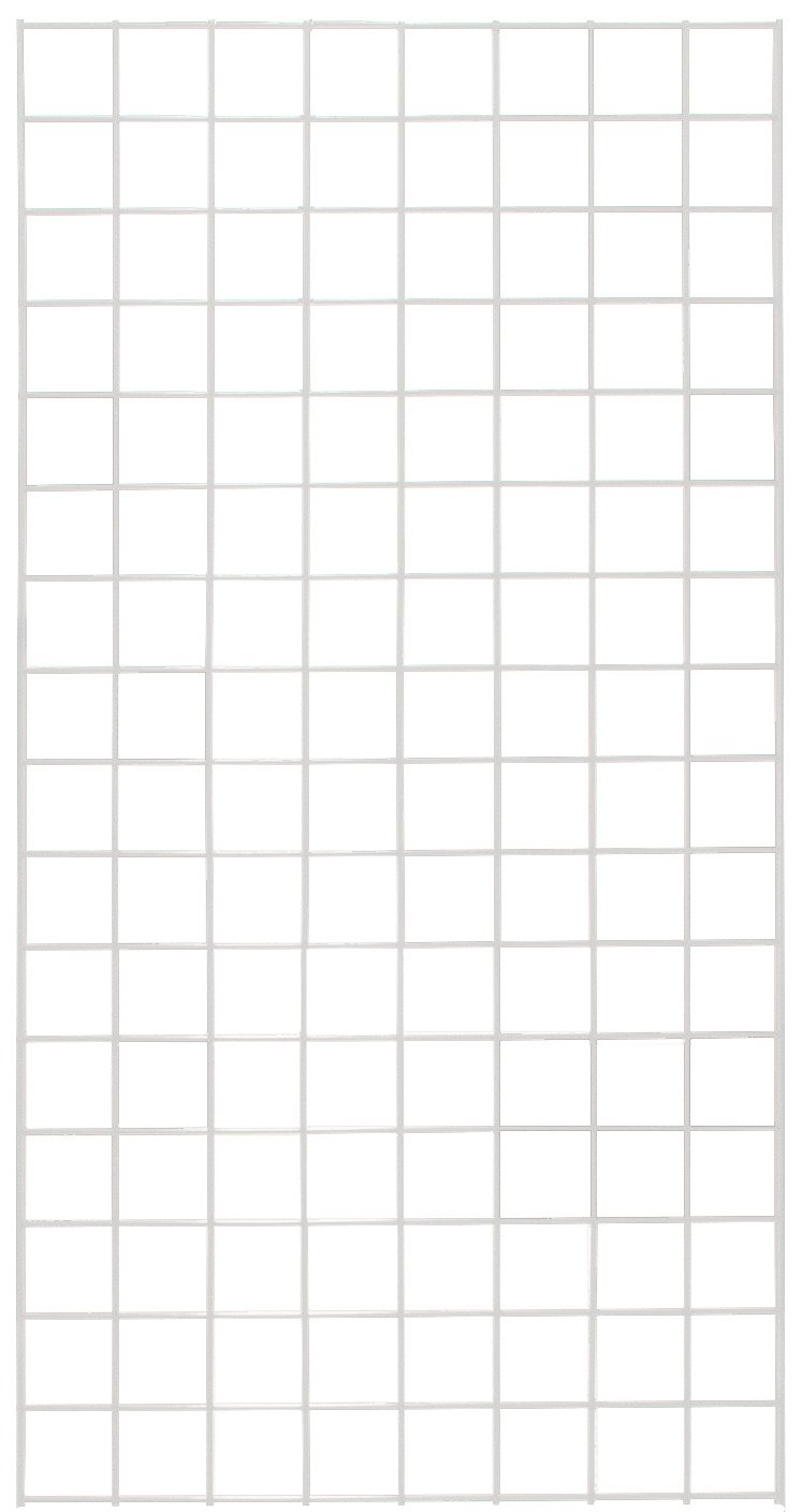 KC Store Fixtures A04216 Gridwall Panel, 2' W x 4' H, White (Pack of 4)