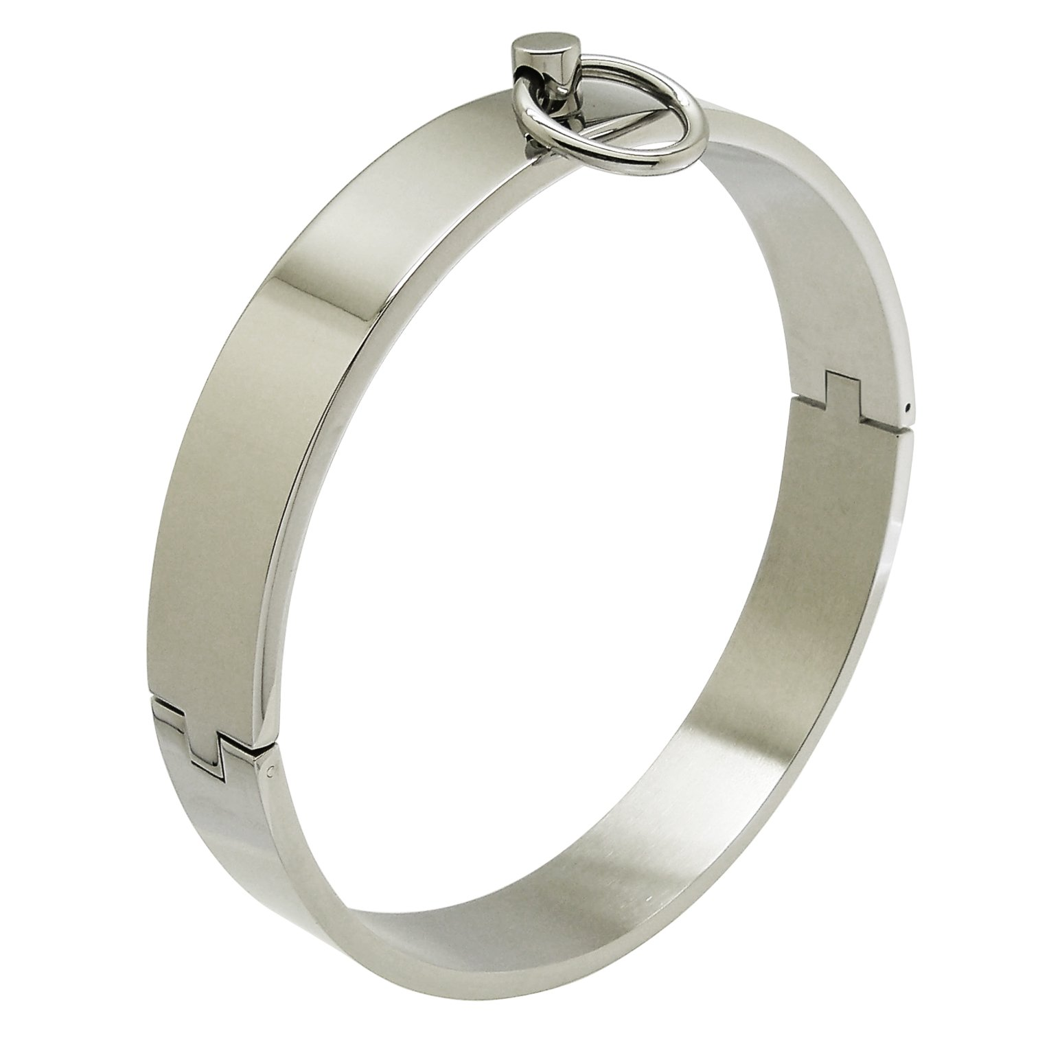 ACECHANNEL Polished Shining Stainless Steel Lockable Neck Collar Choker Necklace (15)