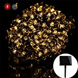 RPGT Solar Cherry Blossom String Lights 500LED USB Charging Fairy String Lights 8 Modes IP44 Solar Powered Starry Lighting (Warm White) for Outdoor Christmas Garden Wedding Party Holiday Decoration For Sale