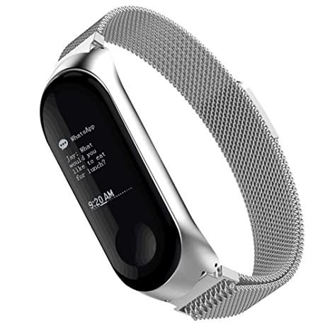 Simpeak Compatible Xiaomi Mi Band 3 Correa (6.7-8.1 Pulgadas), Milanese Loop