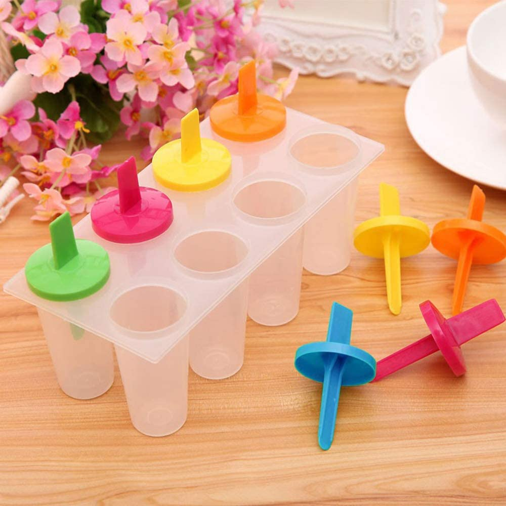 MZY1188 8 Cells Ice Lolly Mold,DIY Frozen Ice Cream Ice Stick Moulds Environment friendly Plastic Ice Maker