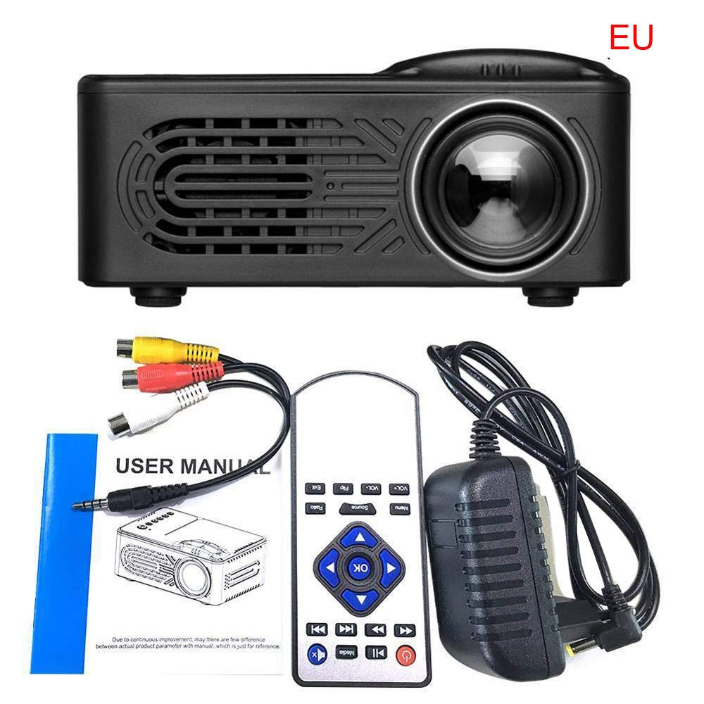 SO-buts Mini Beamer,7000 Lumens,Full 1080P Video LCD Mini HD Projektor, Mini Tragbarer LED Projektor Unterstützung HDMI,USB Kino Multimedia, Heimkino Kino Multimedia Projektor (Schwarz)